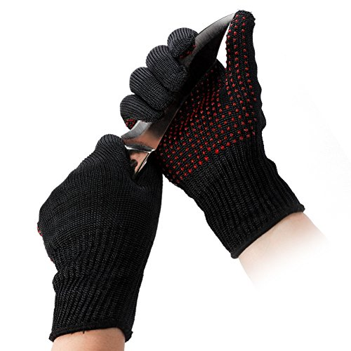 OMOTON Cut Resistant Gloves for Garden Work, Kitchen, Security, with High Performance Level 5 Protection, Lightweight, Durable, Comfortable for Men and Women, Available in 1 - Mall Field Spring