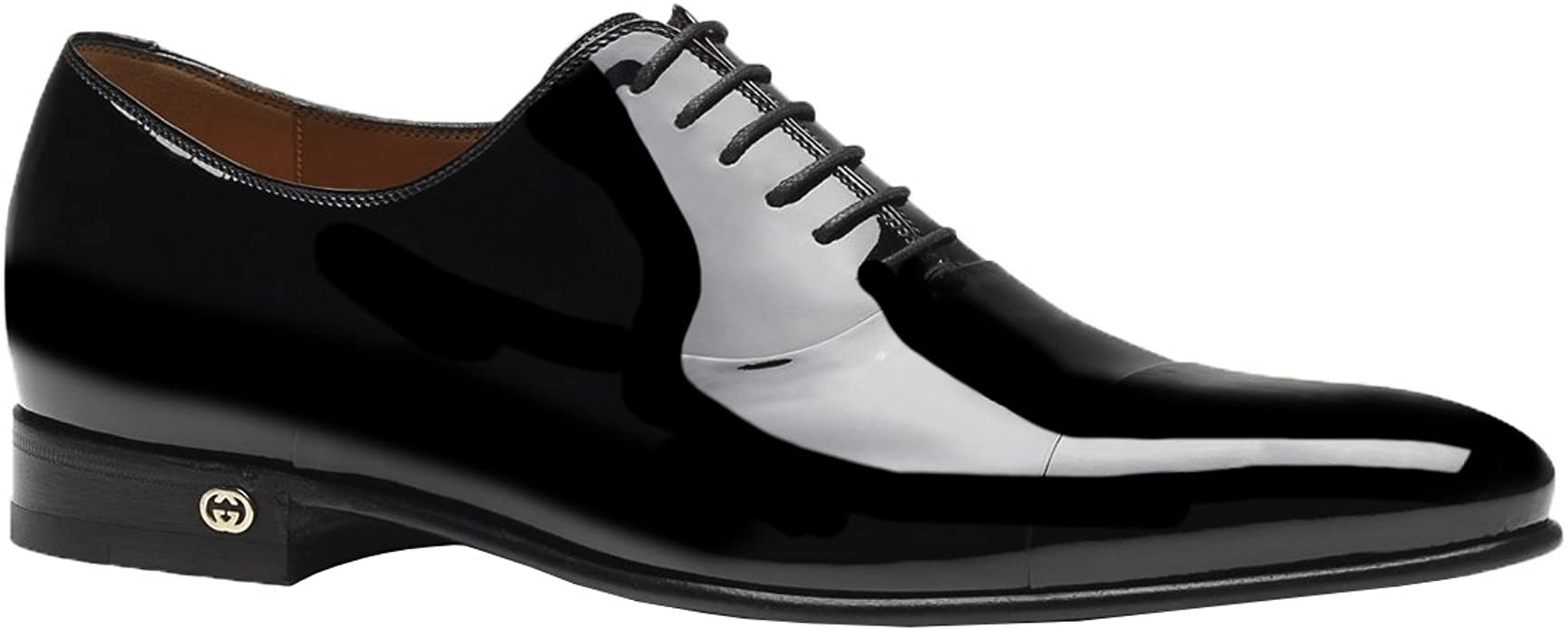 Patent Leather Lace Up Tuxedo Shoes
