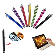 TREASURE VALLEY 8 Pcs Set Colorful Universal Stylus/Styli Touch Screen Pen for iPhone 5,5C, 5S, 4S,4,iPad 4 iPad Mini, iPad 2, Samsung S4,I9500,I9300, Galaxy Note 2 II N7100, Galaxy S IV/4,, Galaxy S III S3, HTC One, Android Tablet PC,Windows Tablet PC by AYAMAYA