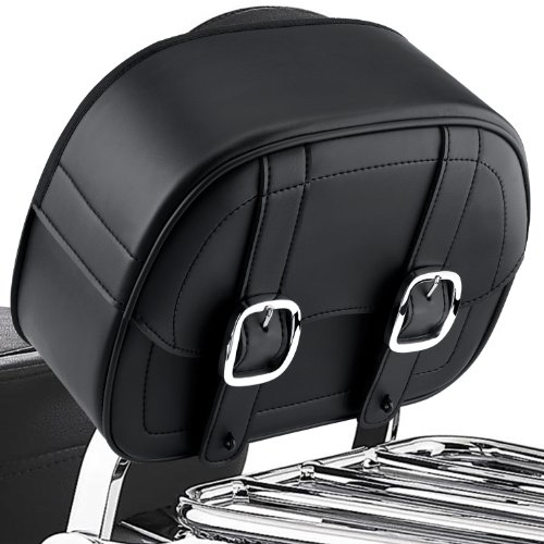 Viking Cruise Plain Leather Motorcycle Sissy Bar Bag (Bag Plain Sissy Bar)