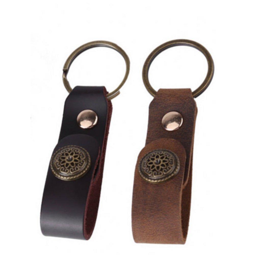Amazon.com   2pcs leather keychain fob e0af7ed1c737