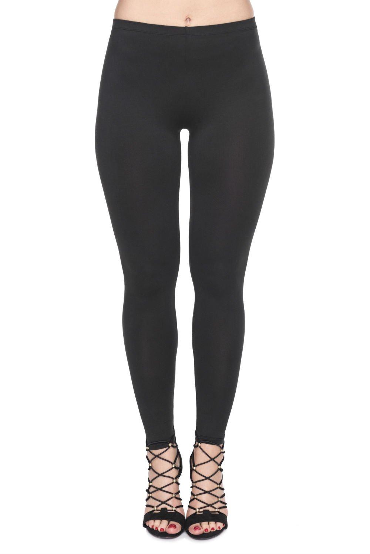 PINK PLOT Basic Printed Leggings Patterned High Elasticity Pants for Women Girls Extra Plus-Fit 3x-5x Black