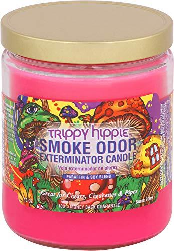Smoke Odor Exterminator 13oz Jar Candle, Trippy Hippie, 13 oz