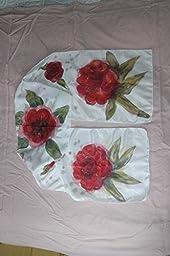 Handpainted Silk Shawl Scarf with Summer Red Peonies Silk Wrap Floral silk scarf 64,57-11,42in Mother Birthday Gift Woman summer Fashion Scarf Shawl Luxury Shawl