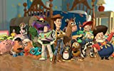 Posterhouzz Movie Toy Story Woody Buzz Lightyear Bullseye Jessie Stinky Pete Barbie HD Wa... Fine Art Paper Print Poster