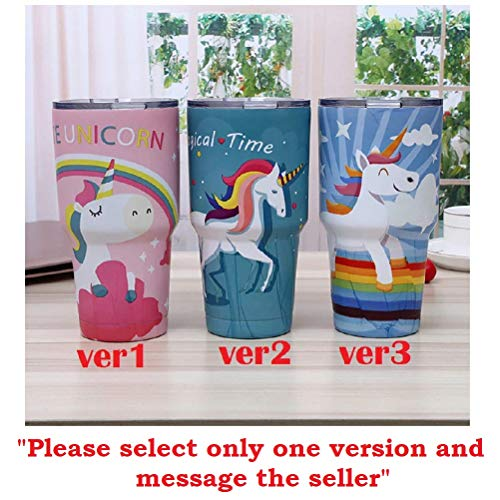 Corn Plastic Mugs - Cartoon U-niiii-corn Mug Thermos Bottle 30oz Stainless Steel Vacuum Flask Travel Coffee Cup for Car Insulated Tumbler Water Bottles