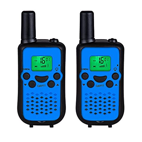 DuaFire Durable Kids Walkie Talkies, 2 Way Radio for Kids Playing Games, Back-lit LCD Screen and Strengthen VOX Free Your Hands (Pair (Bolt Wifi Antenna)