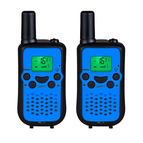 DuaFire Durable Kids Walkie Talkies, 2 Way Radio for Kids Playing Games, Back-lit LCD Screen and Strengthen VOX Free Your Hands (Pair ()
