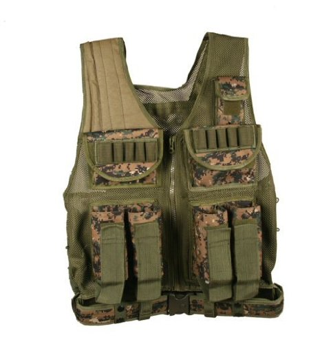 Ultimate Arms Gear Tactical Scenario Marpat Woodland Digital Paintball Airsoft Battle Gear Tank-Armor Pod Vest