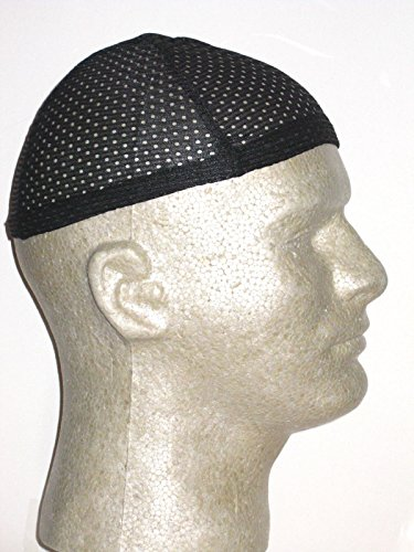 Titan Classic Cool Mesh Dome Cap (New Design) - Black, Breathable, superior stretch, stretchy, stretchable, elastic band, reinforced band, polyester, one size, cap