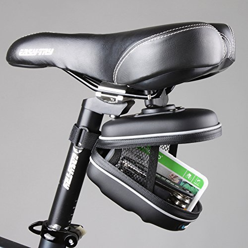 Yellow Jackets Rear Window (Fit Accessory New Roswheel Waterproof Cycling Mountain Road MTB Bicycle Bike Saddle Seat Rear EVA Bag Quick Release Bag Black)