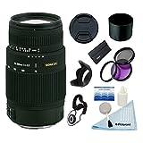 Sigma 70-300mm F4-5.6 DG Macro Lens w/58mm 3 Pc Filter Kit & More for Sony & Minolta Cameras