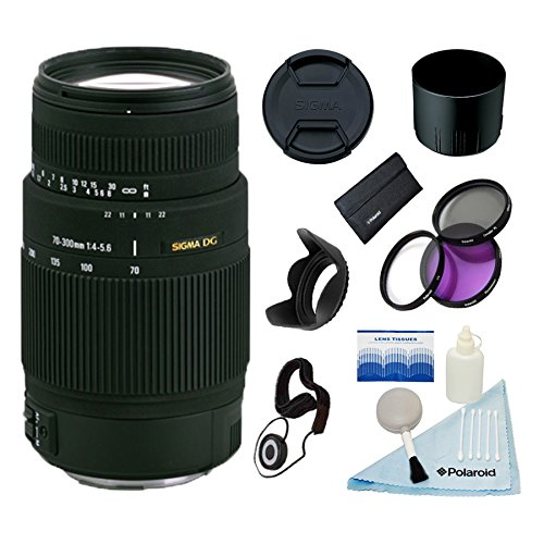 Sigma 70-300mm F4-5.6 DG Macro Lens w/58mm 3 Pc Filter Kit & More for Sony & Minolta Cameras (Best Affordable Macro Lens For Canon)