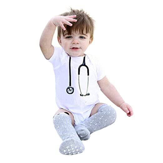 81cd30edd442 0-24M Newborn Baby Boy Girl Cute Novelty Jumpsuit Summer White Romper Outfit  Clothes Yamally