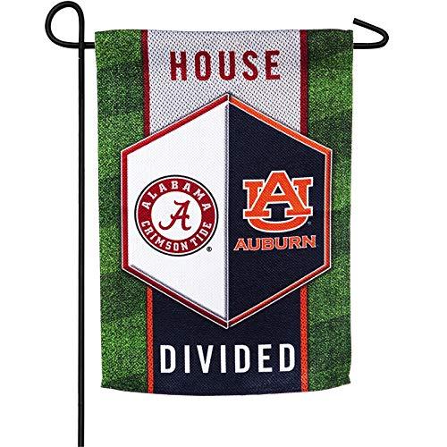 Team Sports America Auburn vs Alabama House Divided Suede Garden Flag