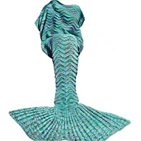 DDMY Mermaid Tail Blanket Crochet Mermaid Blankets...
