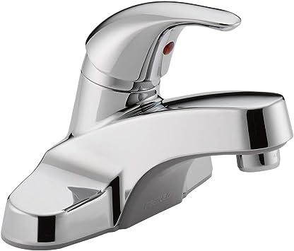 Peerless Centerset Bathroom Faucet Chrome Bathroom Sink Faucet Single Handle Chrome P131lf Touch On Bathroom Sink Faucets Amazon Com