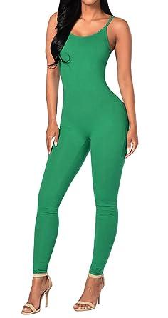 01a0a0cb5f8b Amazon.com  Ybenlow Womens Spaghetti Strap Bodycon Romper Jumpsuits Pants  Bodysuit Clubwear  Clothing