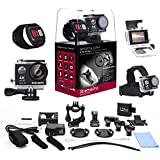 XtremePro 4K Ultra HD Sports Camera Bundle with Wireless Wrist Remote and 20 Accessories Included
