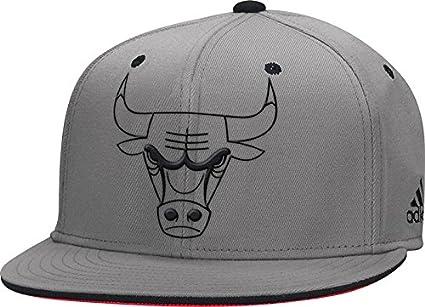Chicago Bulls Head Logo Trim Flatbrim Fitted Hat Official Adidas NBA Flat  Cap (Small  81c016aeabb
