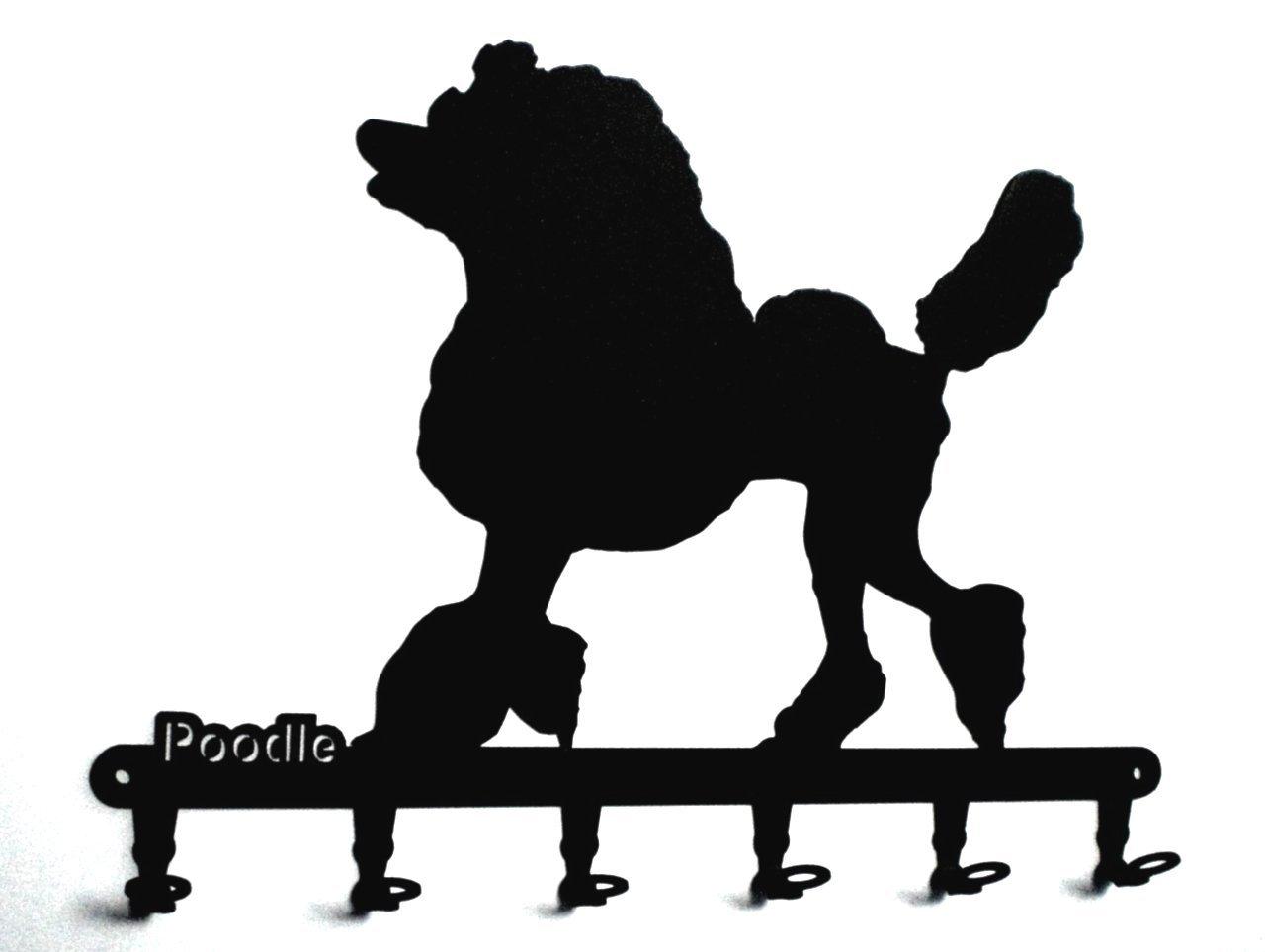Ganci portachiavi -- ' Poodle ' - Barboncino - cane portachiavi -- pannello portachiavi - 6 gancio - nero steelprint.de