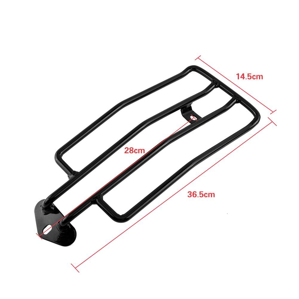 Motorcycle Solo Seat Rear Luggage Rack Black Keenso Rear Fender Rack Plated Luggage Support Shelf for Solo Seat