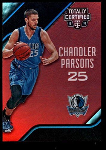CHANDLER PARSONS 149 MAVERICKS MIRROR RED REFRACTOR 50 2015-16 TOTALLY CERTIFIED