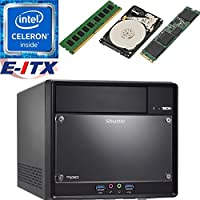 Shuttle SH110R4 Intel Celeron G3930 (Kaby Lake) XPC Cube System , 4GB DDR4, 240GB M.2 SSD, 1TB HDD, DVD RW, WiFi, Bluetooth, Pre-Assembled and Tested by E-ITX