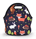 Violet Mist Neoprene Lunch Bag Tote Reusable Insulated Waterproof School Picnic Carrying Lunchbox