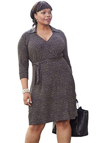 khaki wrap dress - 9