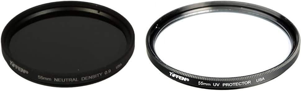 Tiffen 55mm Neutral Density 0.9 Filter /& 55mm UV Protection Filter