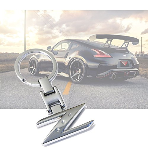 x xotic tech Metal Chrome Z Shape Sporty Style Keychain Key Chain FOB Ring for Nissan