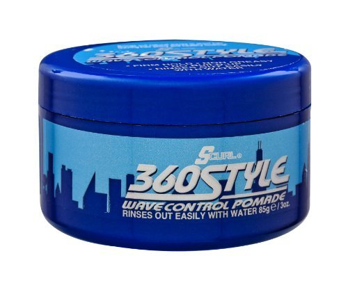 S Curl 360 Style Wave Control Pomade (Control Wave Pomade)