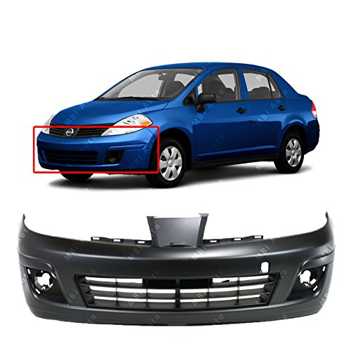 MBI AUTO Primered, Front Bumper Cover Fascia Replacement for 2007 2008 2009 2010 2011 2012 Nissan Versa 07-12, NI1000245