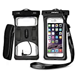 #1: [2018 Upgraded Design] Vansky Floatable Waterproof Phone Case Dry Bag Cellphone Pouch with Armband and Audio Jack for iPhone X, 8 Plus, 8, 7 Plus, 7, 6s, 6, Andriod; TPU Construction IPX8 Certified
