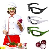 eroute66 Tears Free Onion Goggles Glasses Built In Sponge Kitchen Slicing Eye Protect Green