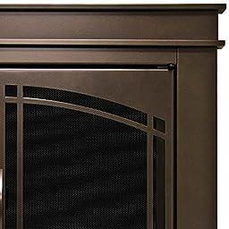 Pleasant Hearth FN-5702 Fenwick Fireplace Glass Door, Oil Rubbed Bronze, Large