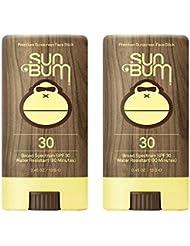 Sun Bum SPF 30 fPVNM Sunscreen, Original Face Stick (2 Pack)