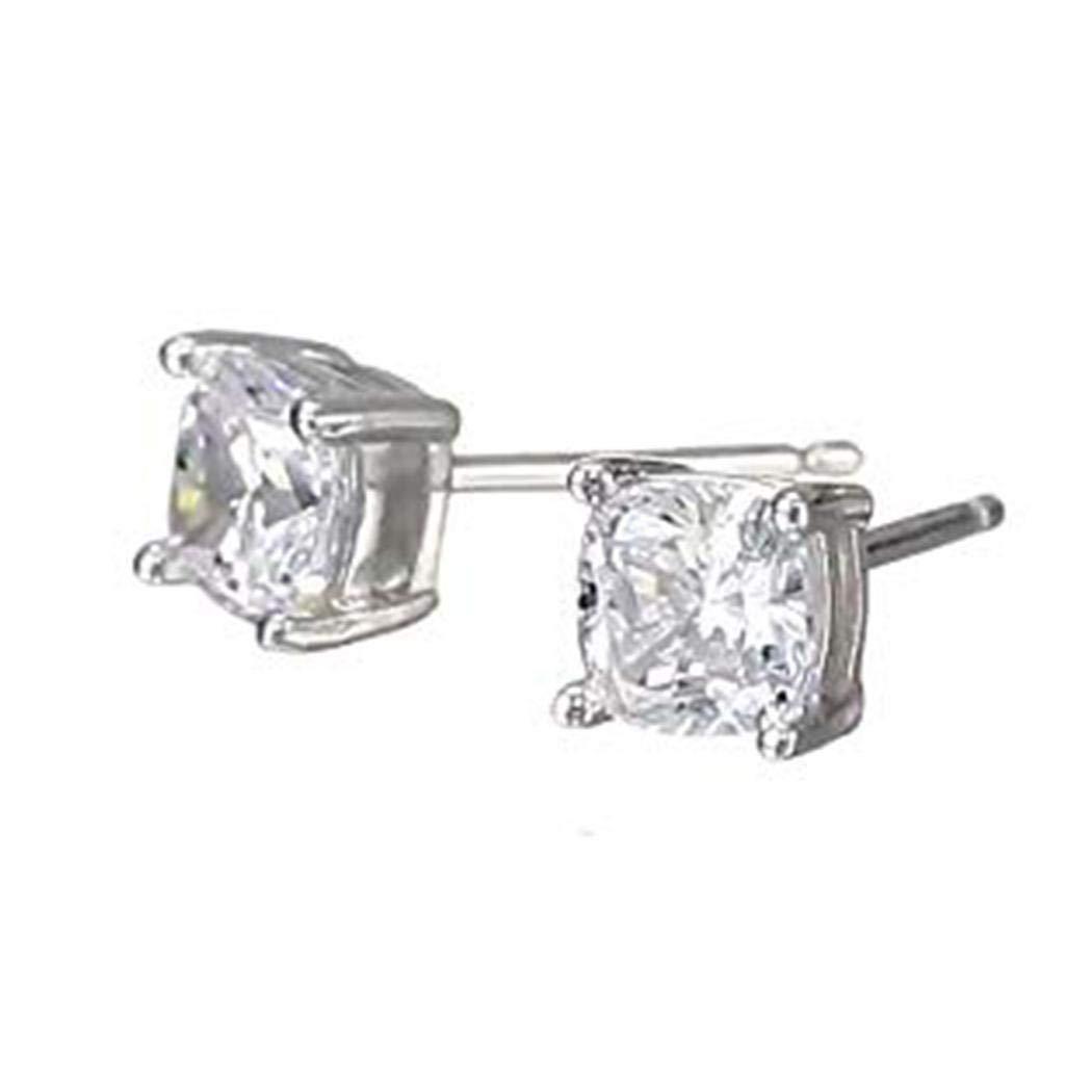 Hotstype Women Fashion Stud Earrings Exquisite Gorgeous Transparent Square Zircon Earring Stud