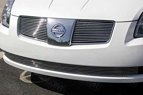 - Grillcraft NIS1571-BAC BG Series Polished Aluminum Upper 2pc Billet Grill Grille Insert for Nissan Maxima