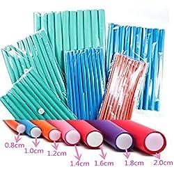 """12 Pack Deal Spiral Hair Foam Curler Roller Set, 10 Rods per Pack Twist Curls Flex Rods, Length 9"""""""