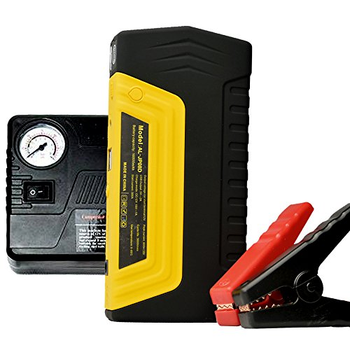 Micropower Car Jump Starter 500A Peak Portable Power Bank 16800 mAh (Up to 4.0L Diesel Engine) Auto Battery Pack Booster Charger with Air Compressor Tire Pump for Truck Motorcycle Boat Automotive