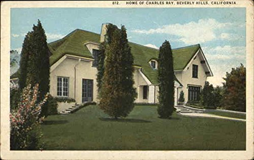 - Home of Charles Ray Beverly Hills, California Original Vintage Postcard