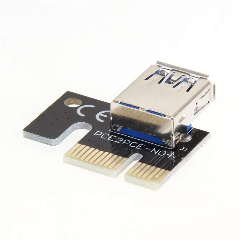 Ndier Deanyi USB3.0Carte Graphique Riser Card PCI-E 1X vers 16x Minière Extension Adaptateur