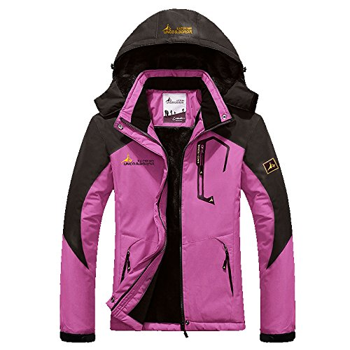 Chickle Women's Outdoor Ski Jacket Waterproof Hiking Winter Windbreaker