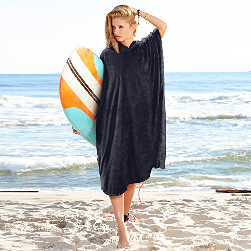 56fb0724a4 Catalonia Surf Poncho Towel with Hood for Adults Women Men