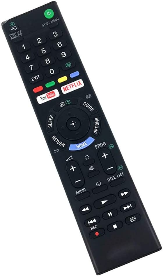 Browser for Sony Bravia KDL43WF663BU 43 Smart tv Black Wireless Mini Keyboard /& Mouse Easy Control Remote Control for YouTube