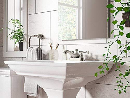 KOHLER K-16100-4A-BN Revival Centerset Lavatory Faucet, Vibrant Brushed (4' Bathroom Faucet)