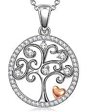 ANGEL NINA Regalo di San Valentino per lei Collane in argento per donna Albero della vita Collane per donna Regalo Albero della vita Ciondolo Collana Regalo per lei