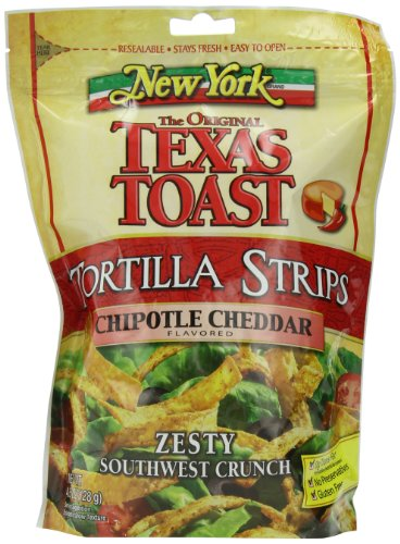 - New York Texas Toast Tortilla Strips Chipotle Cheddar, 4.5-Ounce Bags (Pack of 8)